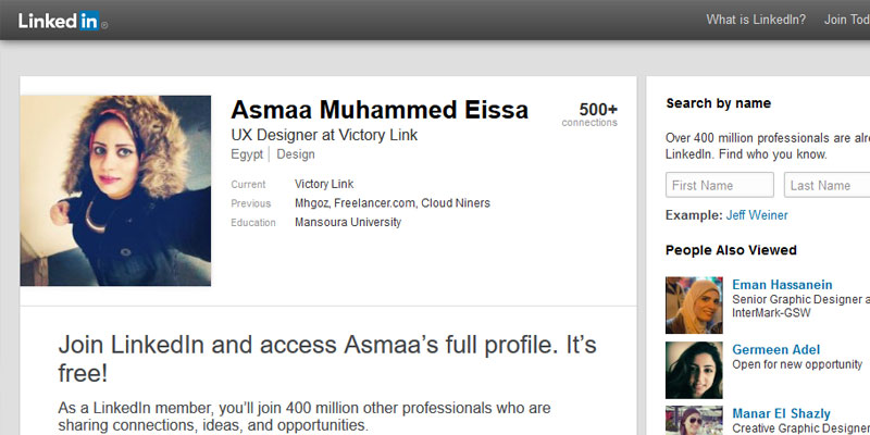 example linkedin profile