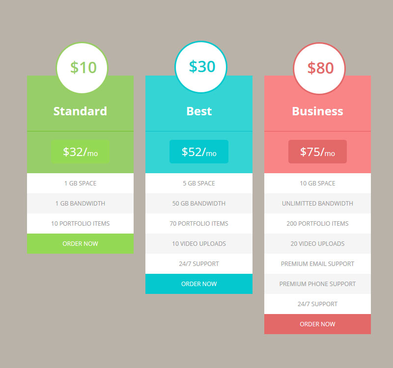 Top 30 Well Designed Pricing Tables   Easy User Experience