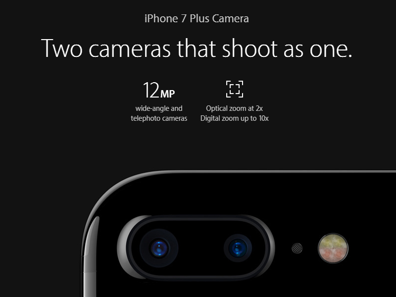 Two cameras 12 mega pixel