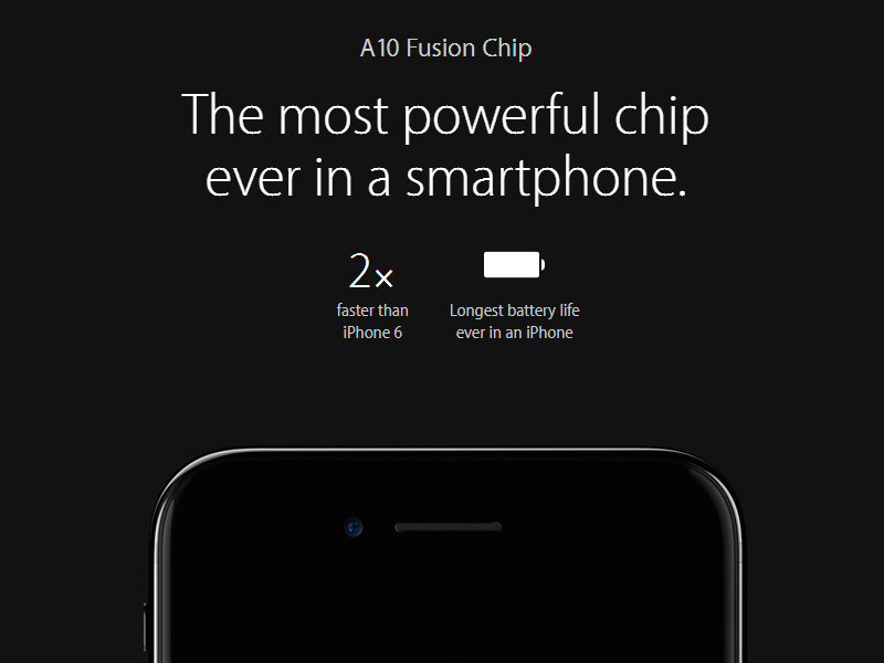 powerful chip iphone7