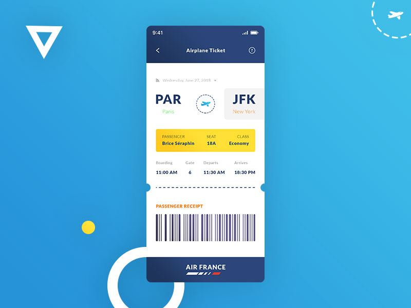 Airplane Ticket. IOS App #Freebies