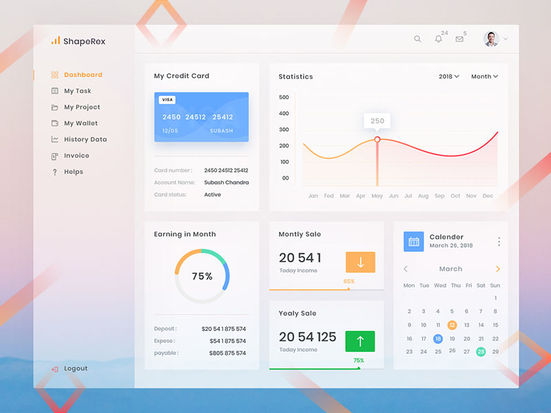 2018 Freebie Dashboard Design