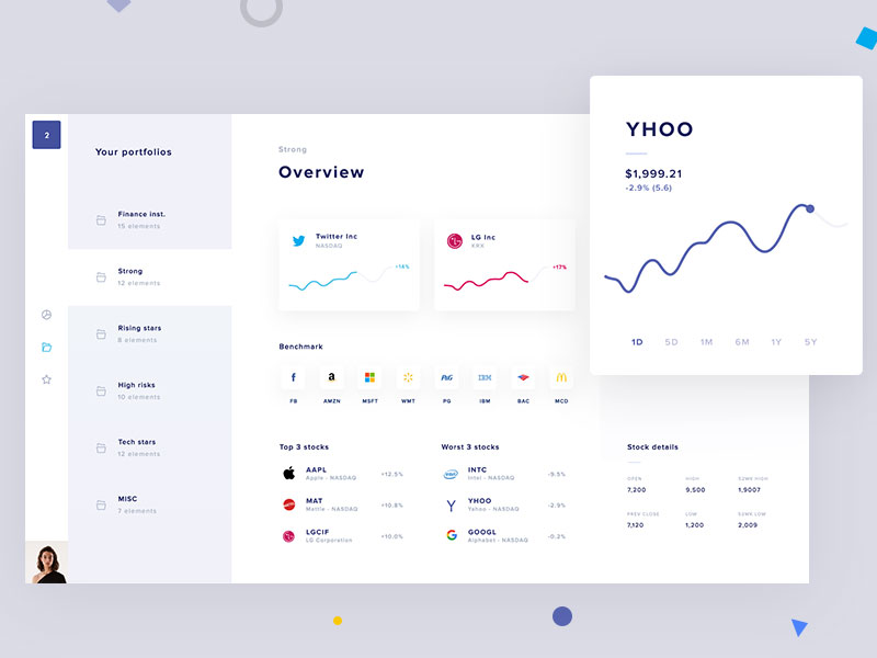 Stock platform dashboard