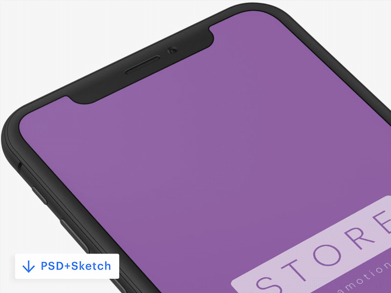 iPhone X Clay Mockup [PSD+Sketch]
