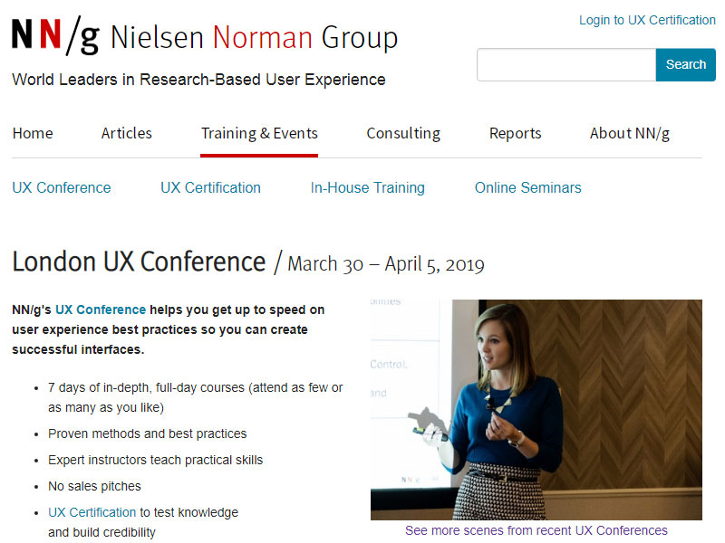 UX Conferences In 2019 | Easy User Experience